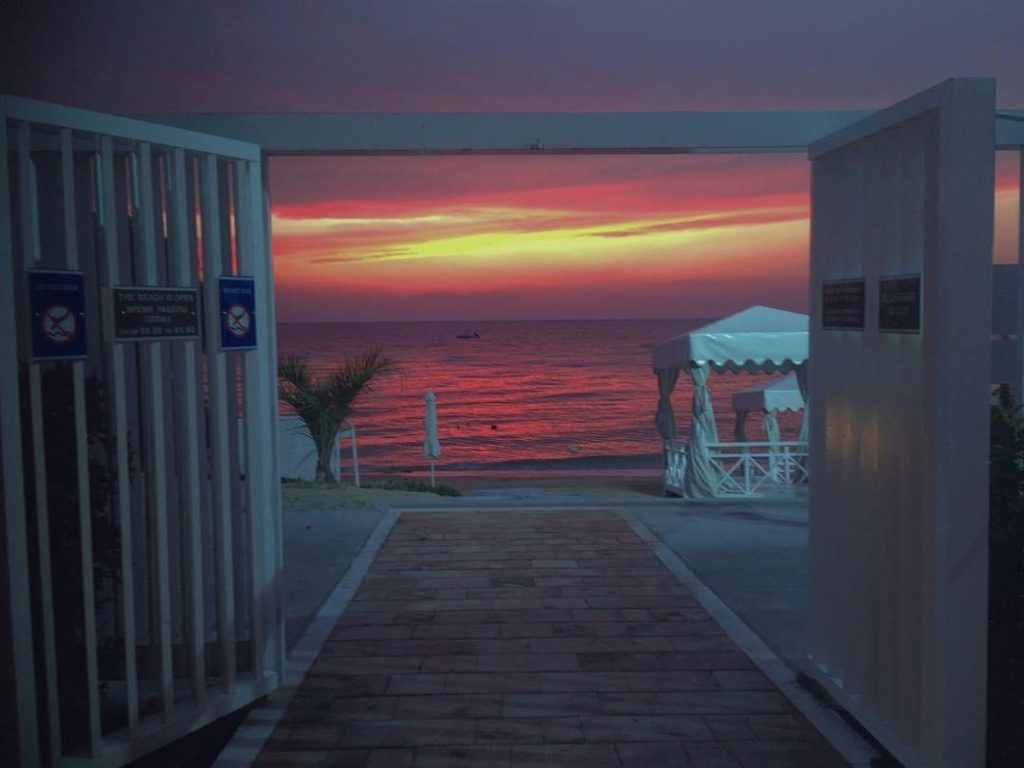 The Pomegranate sunset