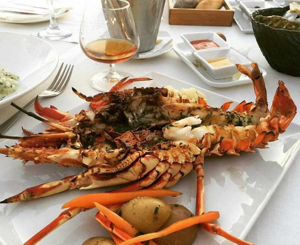 Delectable lobster at Poseidon, our Seafood Restaurant