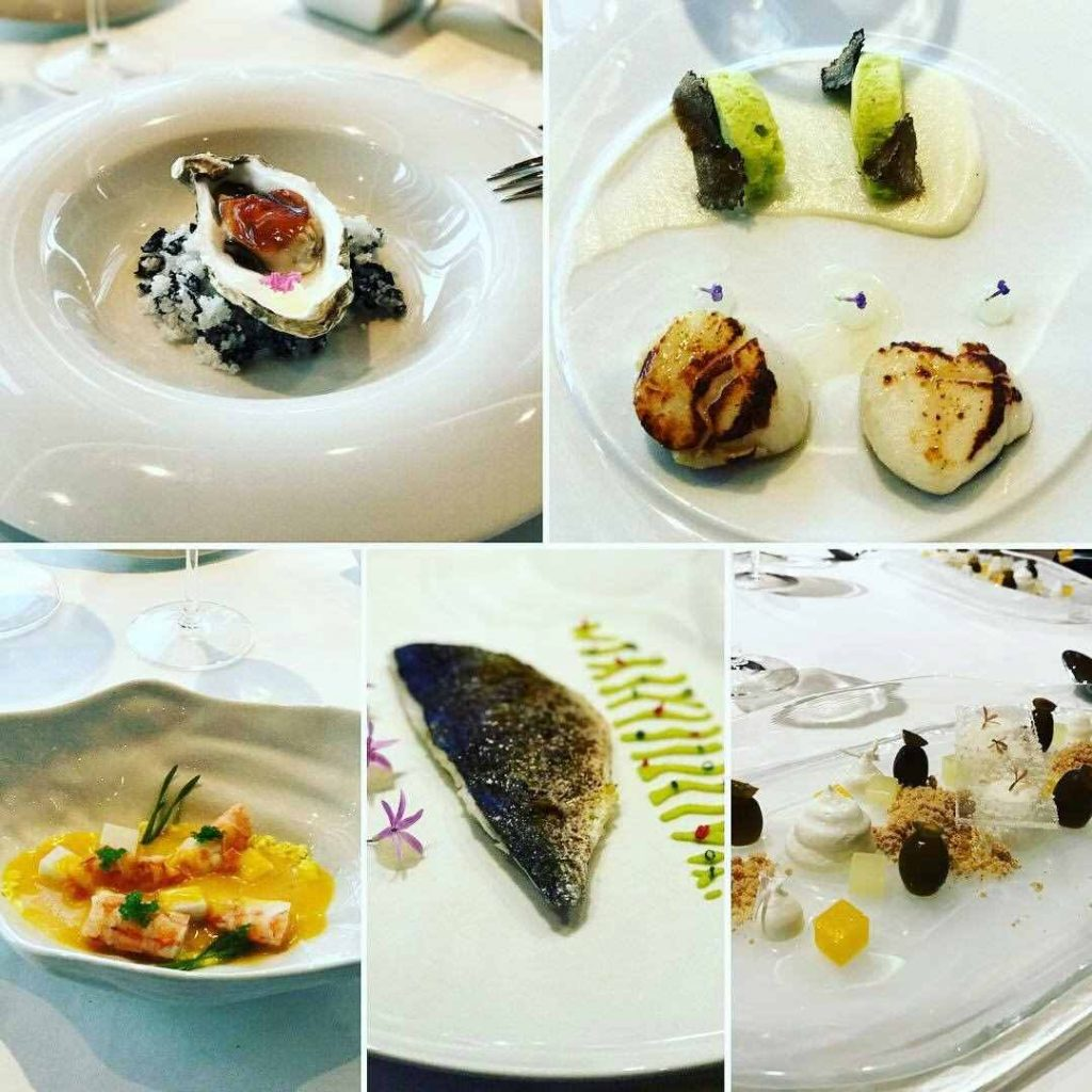 six course Greek seafood tasting dinner