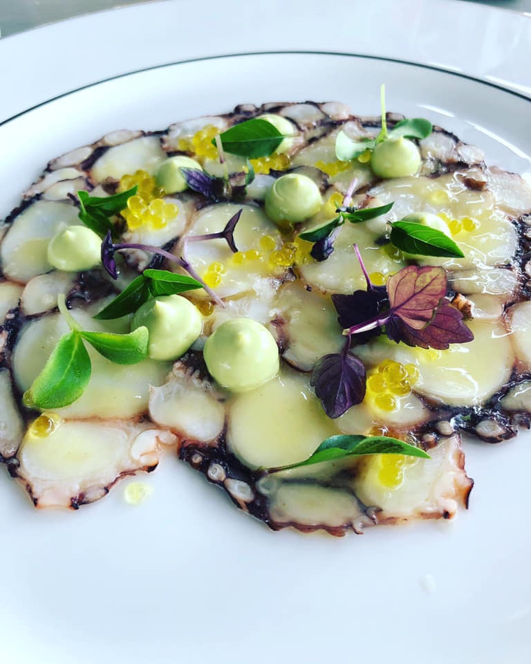 smoked octopus carpaccio